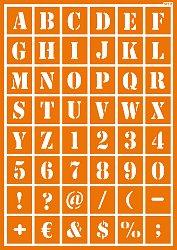Buchstaben Und Zahlen Wandschablonen Bilder Für Die Wände