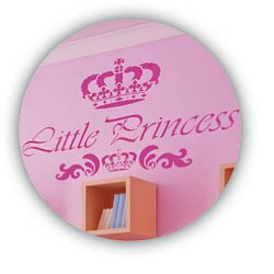 Wandschablone Prinzessin - Little Princess