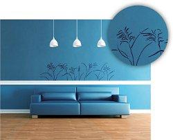 blumen und pflanzen wandschablonen bilder f r die w nde. Black Bedroom Furniture Sets. Home Design Ideas