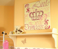 Wandschablone Little Princess, kleine Prinzessin im Kinderzimmer